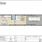 39 công năng sử dụng tầng 1 thiết kế nhà phố 4 tầng tại Hải Dương SH NOP 0216
