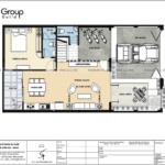 4 bố trí mặt bằng tầng 1 biệt thự hiện đại và khang trang tại Hải Phòng BTD 0082