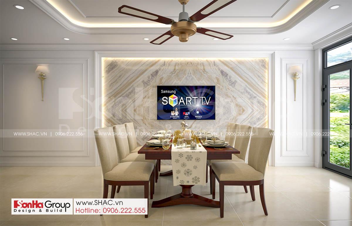 Phòng ăn thanh lịch trong nhà phố 4 tầng diện tích 72m2 tại Hải Dương