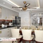6 bếp ăn hiện đại và sang trọng trong thiết kế nhà ống mặt tiền 4m tại Hải Dương SH NOP 0216