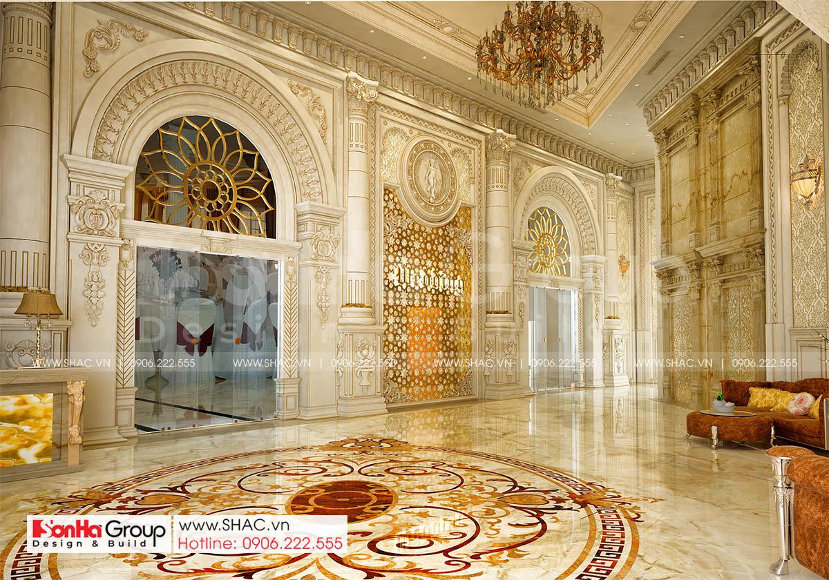 Không gian nội thất trung tâm tiệc cưới diện tích 1932m2 tại Đồng Nai