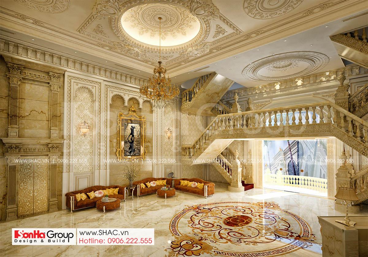 Thiết kế nội thất sảnh trung tâm tiệc cưới mặt tiền 16m tại Đồng Nai