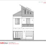 8 bản vẽ mặt cắt biệt thự hiện đại đẹp tại Hải Phòng BTD 0082