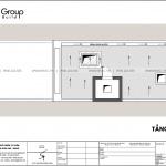 9 mặt bằng tầng áp mái thiết kế nhà ống tân cổ điển 5 tầng mặt tiền 5m sh NOP 0214