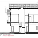9 mặt cắt ngang trục a d biệt thự hiện đại 2 tầng tại Hải Phòng BTD 0082