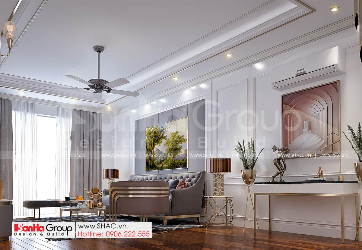 Phòng khách độc đáo và sang trọng trong thiết kế nhà đẹp tại Hải Dương