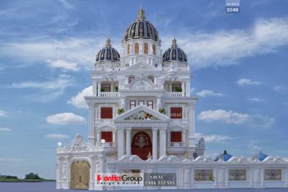 Biệt thự lâu đài 3 tầng 1 tum rộng 305m2