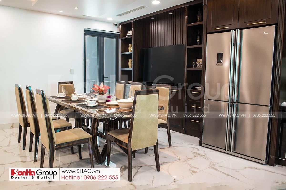 Phòng ăn sang trọng trong thiết kế thi công nội thất nhà phố tại Hải Phòng