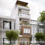 1 thiết kế nhà phố hiện đại 4 tầng tại Hải Phòng SH NOD 0225