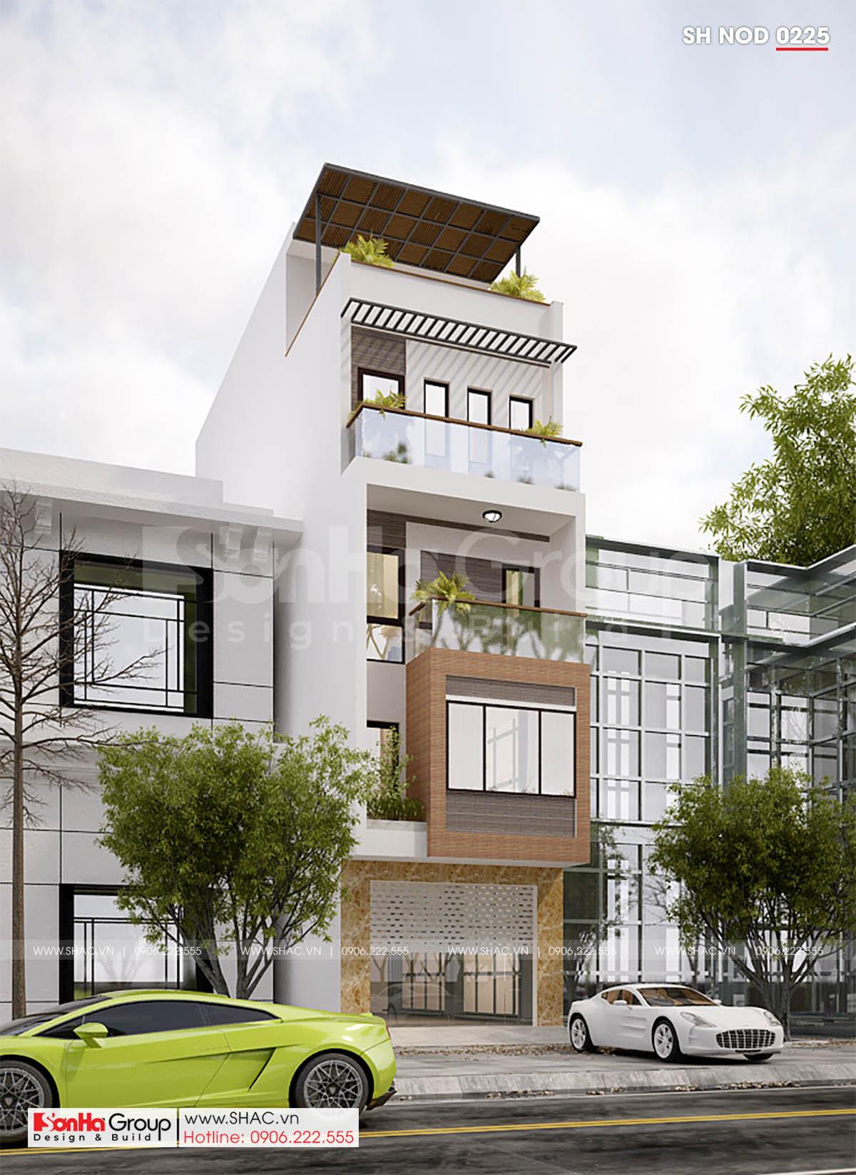 Thiết kế nhà phố hiện đại 4 tầng tại Hải Phòng