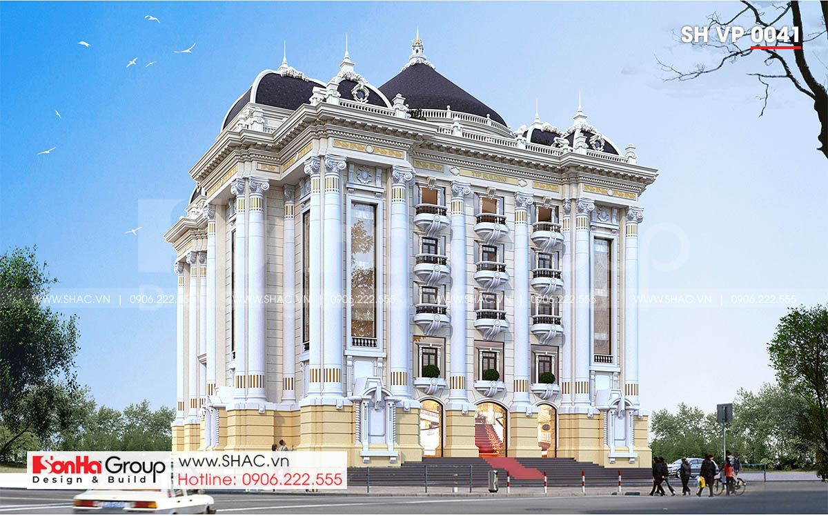 Thiết kế văn phòng làm việc 6 tầng tại Quảng Ninh