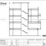 10 mặt cắt A A trong thiết kế nhà phố hiện đại 80m2 tại Hải Phòng SH NOD 0225
