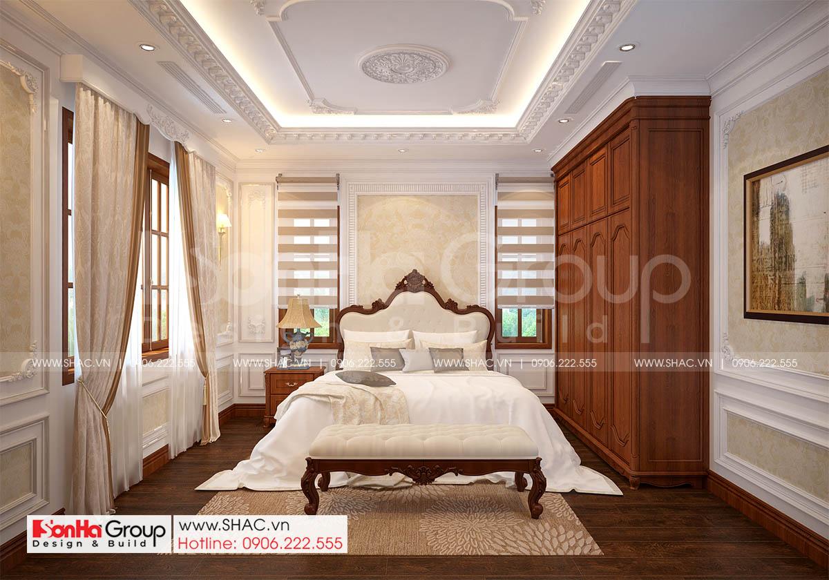Không gian phòng ngủ 4 sang trọng trong mẫu biệt thự tân cổ điển sang trọng tại Hải Phòng
