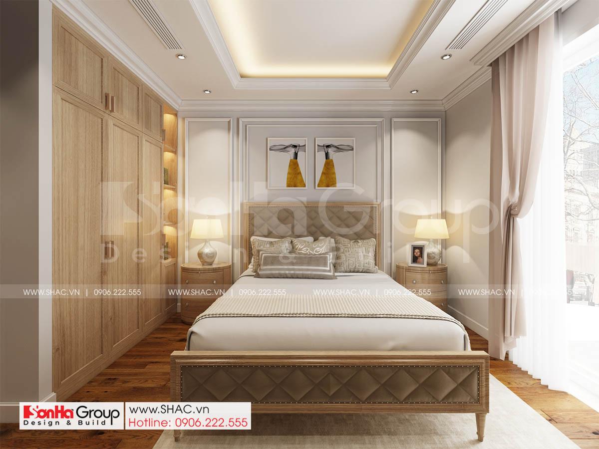 Phòng ngủ biệt thự 4 tầng tại Sài Gòn