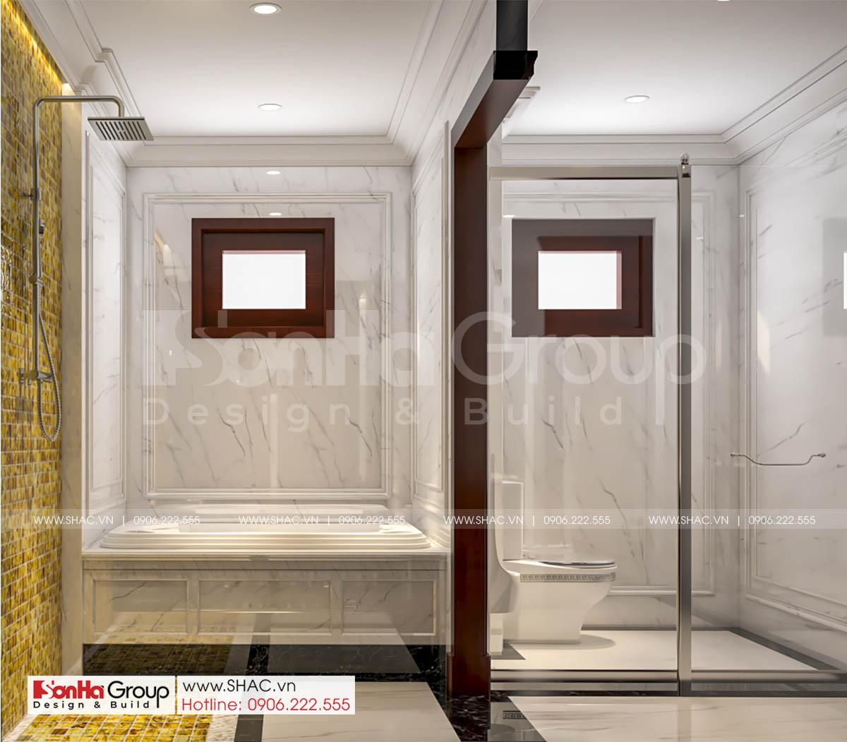 Phòng xông tiện dụng trong thiết kế biệt thự tân cổ điển đẹp tại Hải Phòng