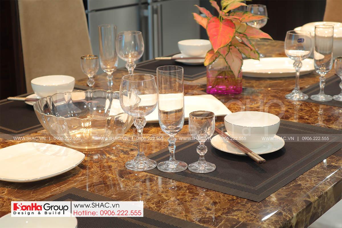 Hình ảnh bàn ăn trong thiết kế nội thất nhà phố Hải Phòng