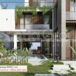 2 quang cảnh thiết kế biệt thự hiện đại 3 tầng tại Quảng Ninh SH BTD 0083
