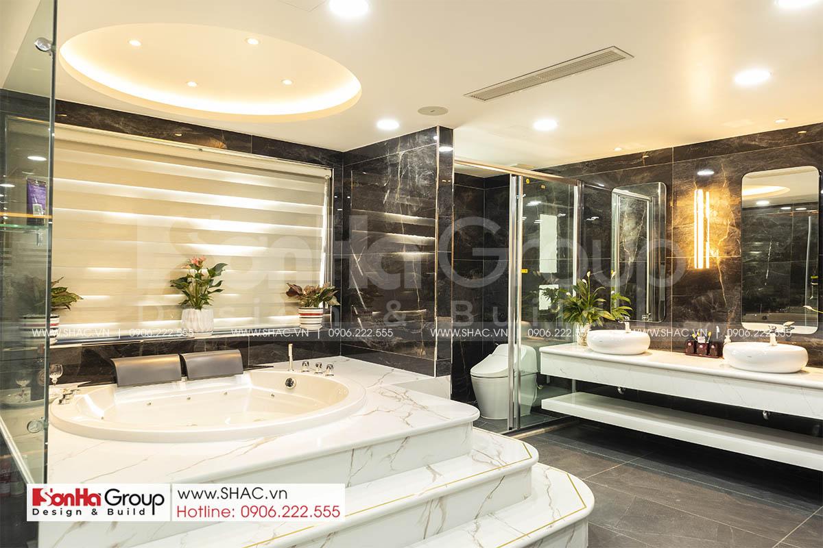 Phòng tắm master sang trọng đẳng cấp trong nahf phố 5 tầng tại Hải Phòng