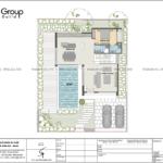 23 bản vẽ công năng tầng 1 biệt thự hiện đại đẹp tại Quảng Ninh SH BTD 0083