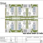 27 mặt bằng xếp lô thẳng hàng của biệt thự hiện đại tại Quảng Ninh SH BTD 0083