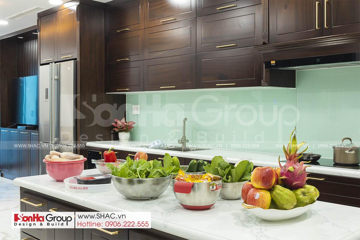 Căn bếp sang trọng trong thiết kế thi công nội thất nhà phố Hải Phòng