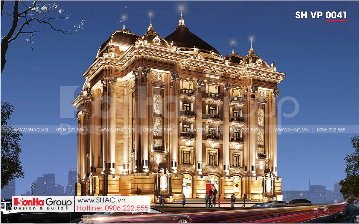 Kiến trúc cổ điển của công trình thiết kế văn phòng tại Quảng Ninh