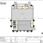 4 bản vẽ tầng hầm thiết kế văn phòng mặt tiền 26m tại Quảng Ninh SH VP 0041