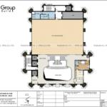 6 công năng sử dụng tầng 2 mẫu thiết kế văn phòng 6 tầng tại Quảng Ninh SH VP 0041
