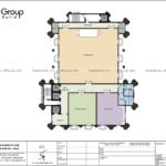 8 công năngsử dụng tầng 4 mẫu thiết kế văn phòng diện tích 950m2 tại Quảng Ninh SH VP 0041