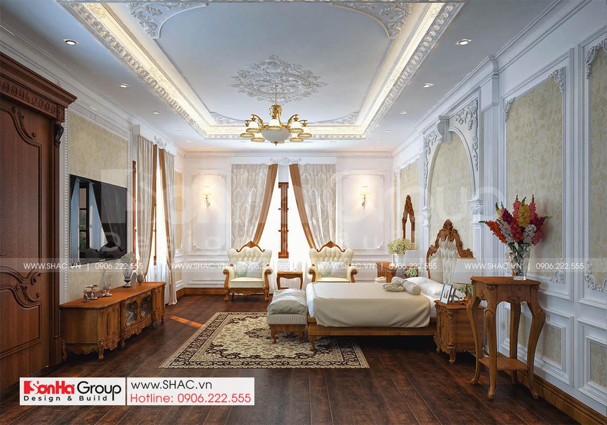 Không gian nội thất đầy tinh tế trong biệt thự tân cổ điển đẹp tại Hải Phòng
