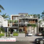8 mặt tiền 20m thiết kế biệt thự hiện đại tại Quảng Ninh SH BTD 0083