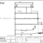 9 Bản vẽ mặt đứng trục A A biệt thự tân cổ điển tại Sài Gòn SH BTP 0163