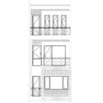 9 mặt đứng trục A B trong thiết kế nhà phố hiện đại mặt tiền 5m tại Hải Phòng SH NOD 0225