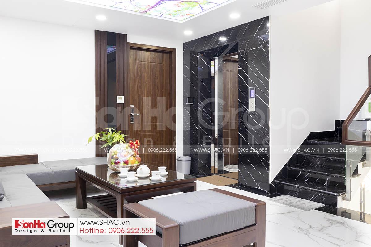 Phòng khách hiện đại trong thiết kế thi công nội thất Hải Phòng