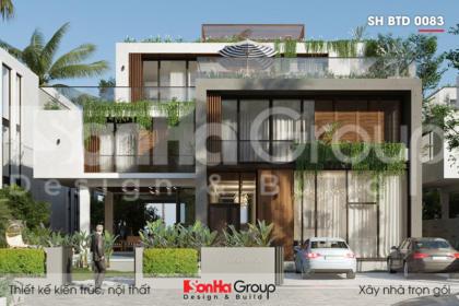 BIA thiết kế biệt thự hiện đại dự án phương đông quảng ninh sh btd 0083