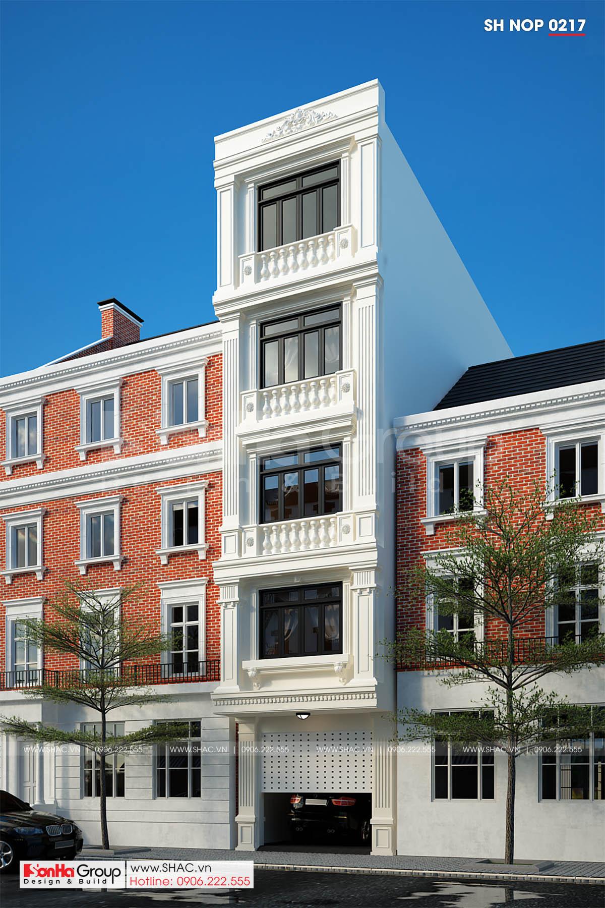 Thiết kế nhà phố tân cổ điển 5 tầng tại Hải Phòng