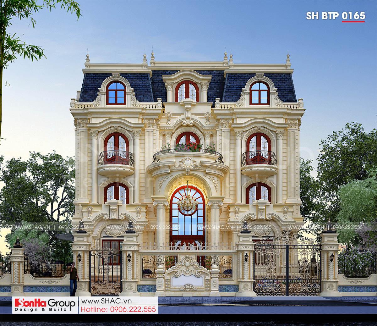 Mặt tiền 15,7m thiết kế biệt thự tân cổ điển đẹp tại Đà Nẵng