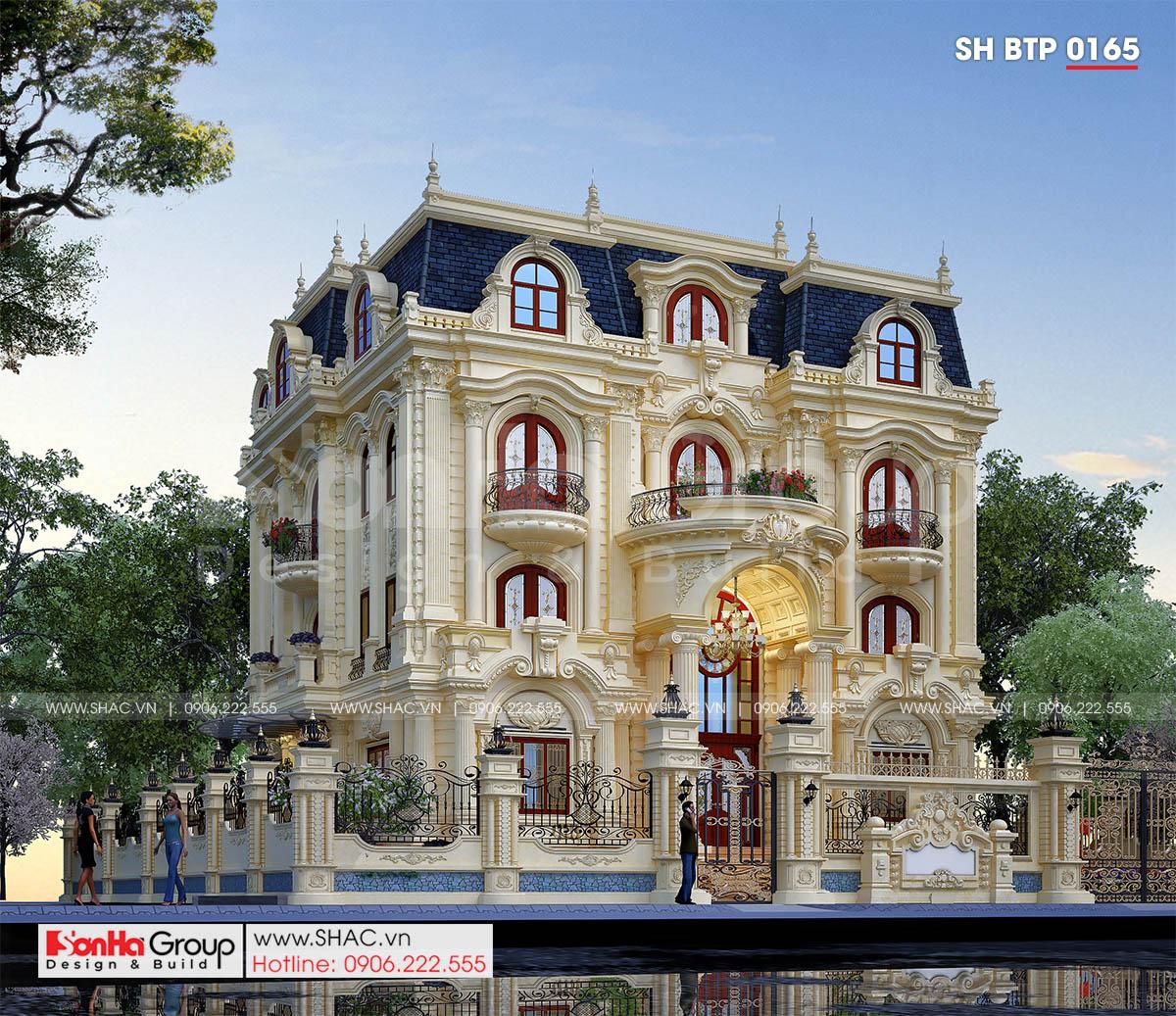 Biệt thự tân cổ điển diện tích 263,76m2 tại Đà Nẵng