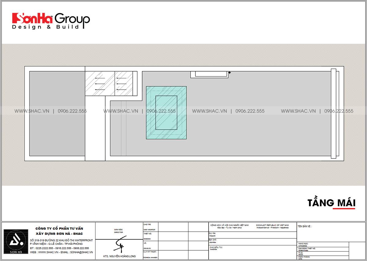 Thiết kế tầng mái trong nhà phố mặt tiền 4,2m tại Hải Phòng