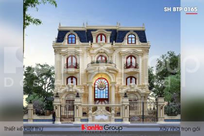 BIA Thiết kế biệt thự tân cổ điển 260m2 tại Đà Nẵng   SH BTP 0165