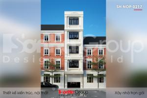 BIA Thiết kế nhà phố tân cổ điển 5 tầng diện tích 60m2 tại Hải Phòng SH NOP 0217