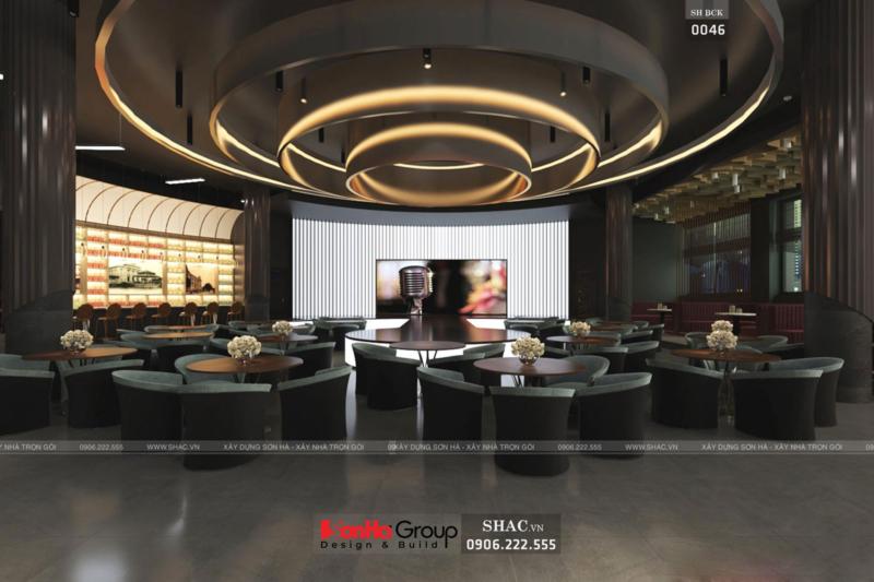 Phương án thiết kế phòng trà Quang Minh BCK 0046