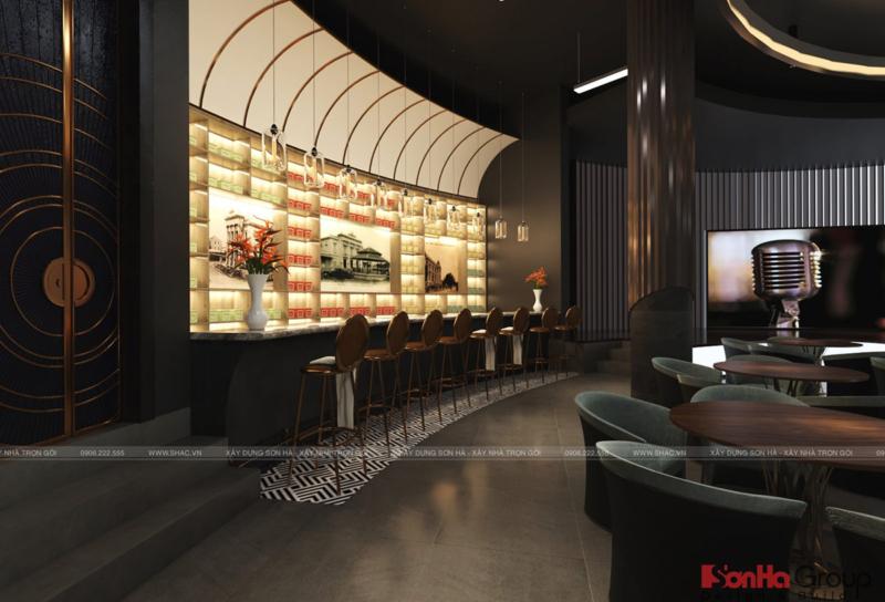 Quầy bar phòng trà Quang Minh