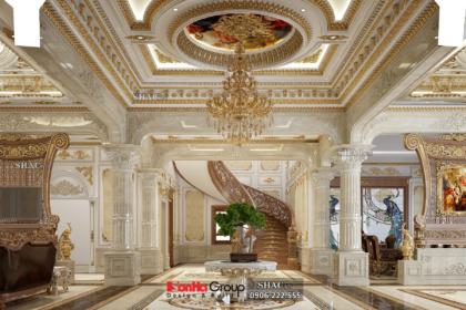 Thiết kế nội thất sang trọng cho biệt thự lâu đài 300m2