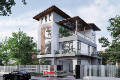 Biệt thự hiện đại 3 tầng 5 phòng ngủ rộng 300m2