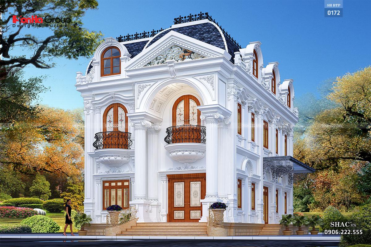 Biệt thự tân cổ điển 2 tầng 150m2 btp 0172