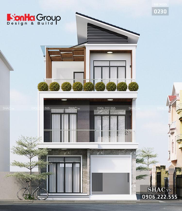 Nhà phố 3 tầng mặt tiền 7m