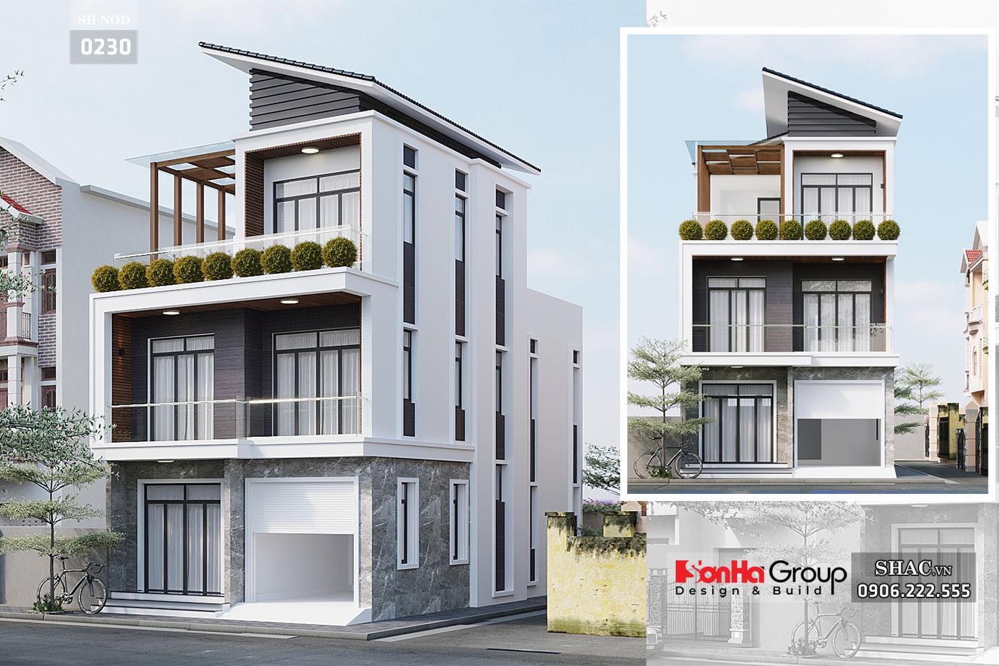 Nhà phố 3 tầng mặt tiền 7m rộng 85m2