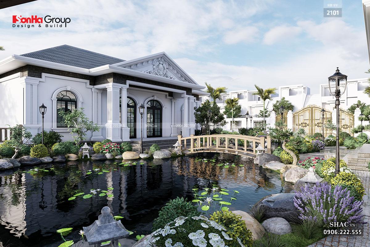 Thiết kế cảnh quan sân vườn khu nghỉ dưỡng
